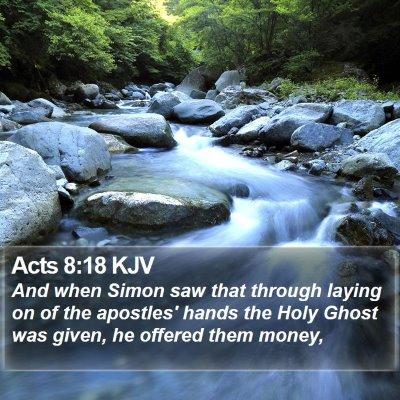 Acts 8:18 KJV Bible Verse Image