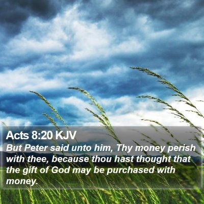 Acts 8:20 KJV Bible Verse Image