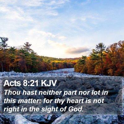 Acts 8:21 KJV Bible Verse Image
