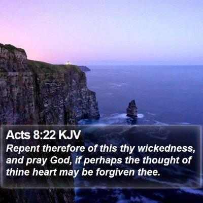 Acts 8:22 KJV Bible Verse Image