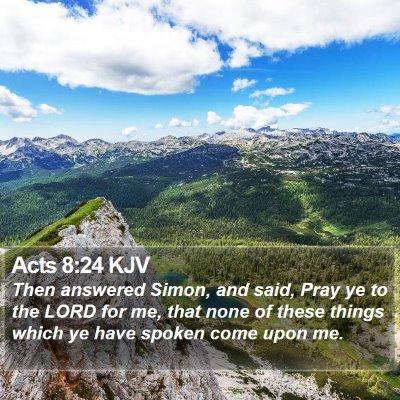 Acts 8:24 KJV Bible Verse Image