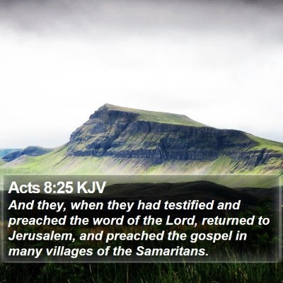 Acts 8:25 KJV Bible Verse Image