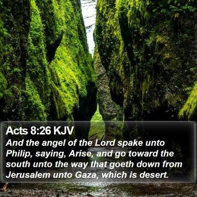 Acts 8:26 KJV Bible Verse Image