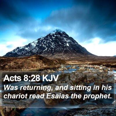 Acts 8:28 KJV Bible Verse Image