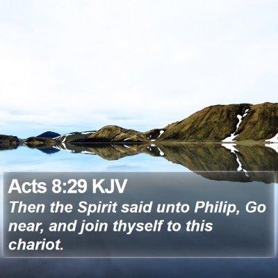 Acts 8:29 KJV Bible Verse Image