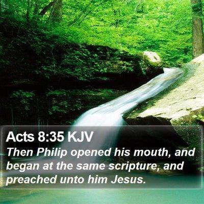 Acts 8:35 KJV Bible Verse Image