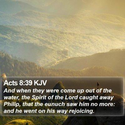 Acts 8:39 KJV Bible Verse Image