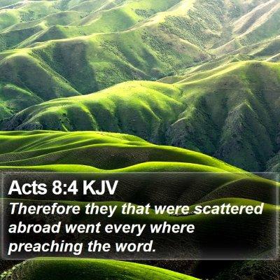 Acts 8:4 KJV Bible Verse Image