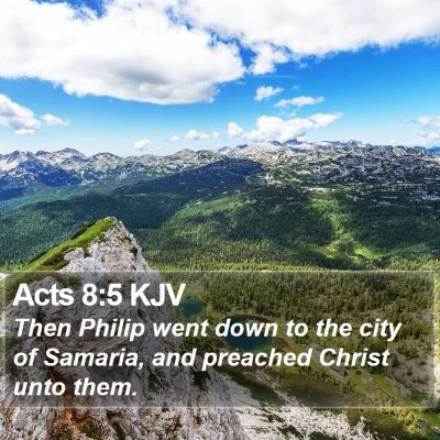 Acts 8:5 KJV Bible Verse Image