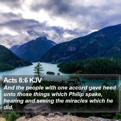 Acts 8:6 KJV Bible Verse Image