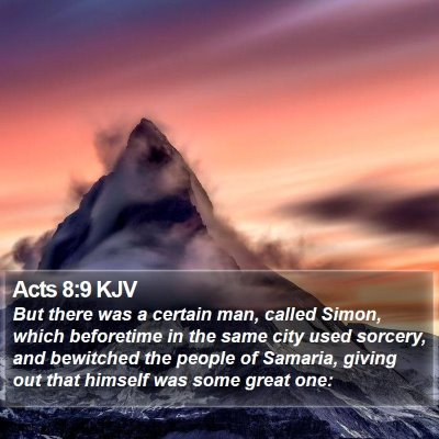 Acts 8:9 KJV Bible Verse Image