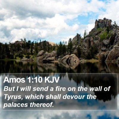 Amos 1:10 KJV Bible Verse Image