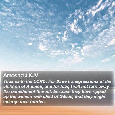 Amos 1:13 KJV Bible Verse Image
