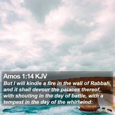 Amos 1:14 KJV Bible Verse Image