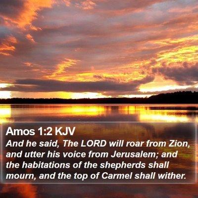 Amos 1:2 KJV Bible Verse Image
