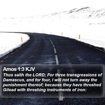Amos 1:3 KJV Bible Verse Image