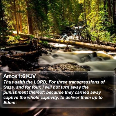 Amos 1:6 KJV Bible Verse Image