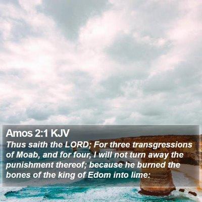 Amos 2:1 KJV Bible Verse Image