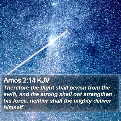 Amos 2:14 KJV Bible Verse Image