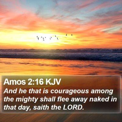 Amos 2:16 KJV Bible Verse Image