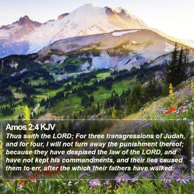 Amos 2:4 KJV Bible Verse Image