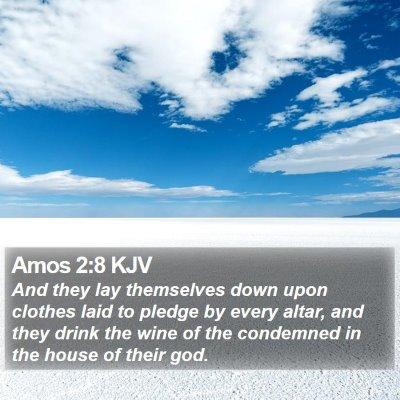 Amos 2:8 KJV Bible Verse Image
