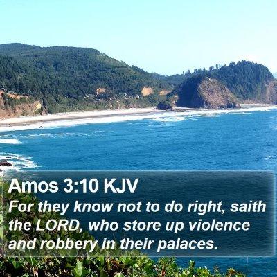 Amos 3:10 KJV Bible Verse Image