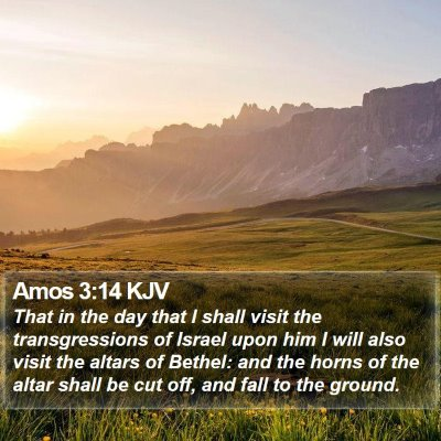 Amos 3:14 KJV Bible Verse Image