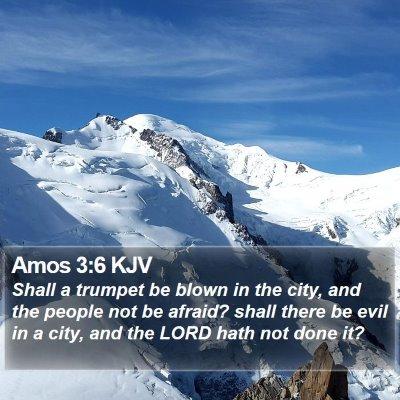 Amos 3:6 KJV Bible Verse Image