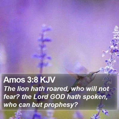 Amos 3:8 KJV Bible Verse Image