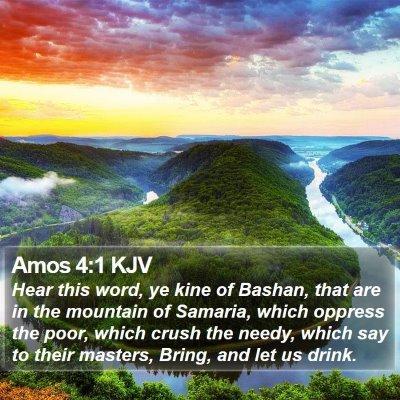 Amos 4:1 KJV Bible Verse Image