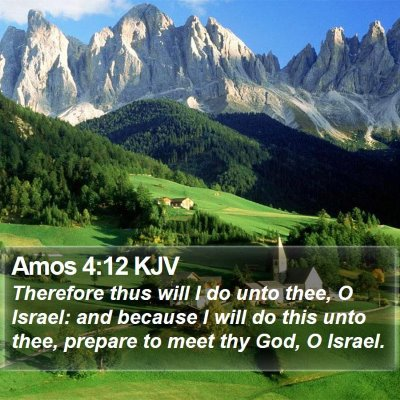 Amos 4:12 KJV Bible Verse Image