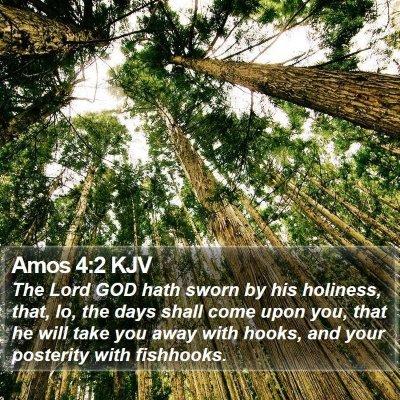 Amos 4:2 KJV Bible Verse Image