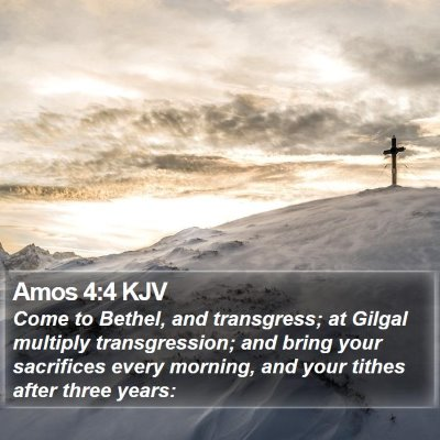 Amos 4:4 KJV Bible Verse Image