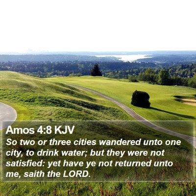 Amos 4:8 KJV Bible Verse Image