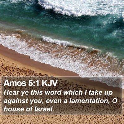 Amos 5:1 KJV Bible Verse Image