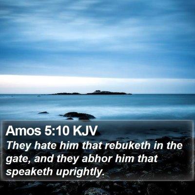 Amos 5:10 KJV Bible Verse Image