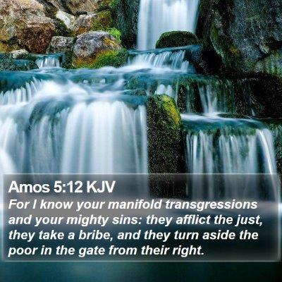 Amos 5:12 KJV Bible Verse Image