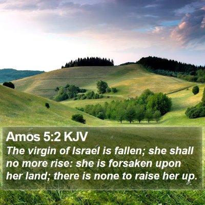 Amos 5:2 KJV Bible Verse Image