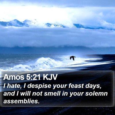 Amos 5:21 KJV Bible Verse Image