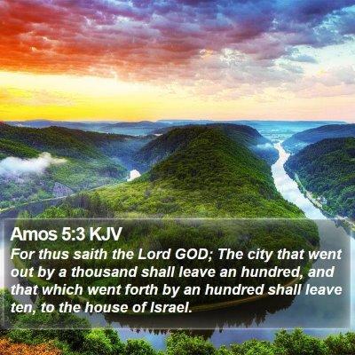 Amos 5:3 KJV Bible Verse Image