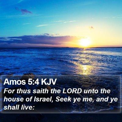 Amos 5:4 KJV Bible Verse Image