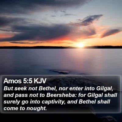 Amos 5:5 KJV Bible Verse Image