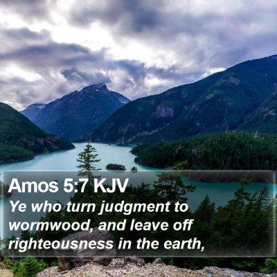 Amos 5:7 KJV Bible Verse Image