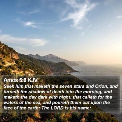 Amos 5:8 KJV Bible Verse Image