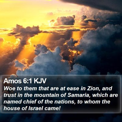 Amos 6:1 KJV Bible Verse Image
