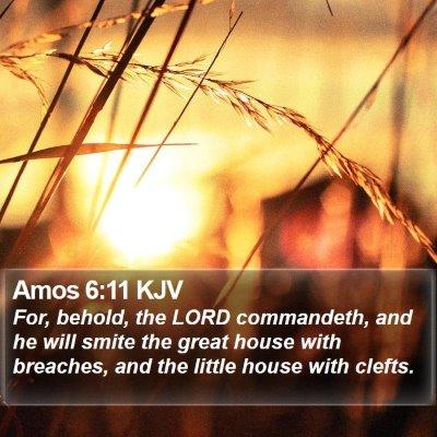 Amos 6:11 KJV Bible Verse Image