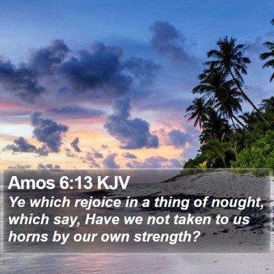 Amos 6:13 KJV Bible Verse Image