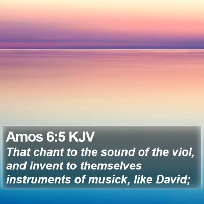 Amos 6:5 KJV Bible Verse Image
