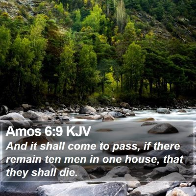 Amos 6:9 KJV Bible Verse Image